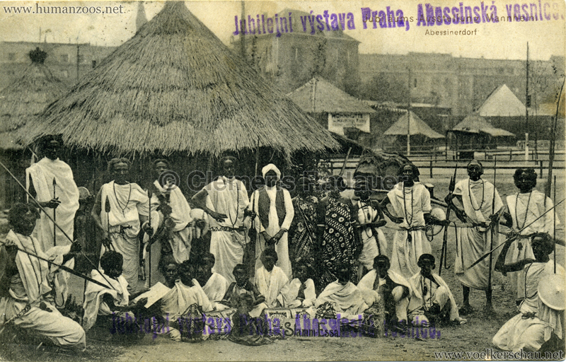 1908 Jubilejni vystava Praha, Abessinska vesnica 4