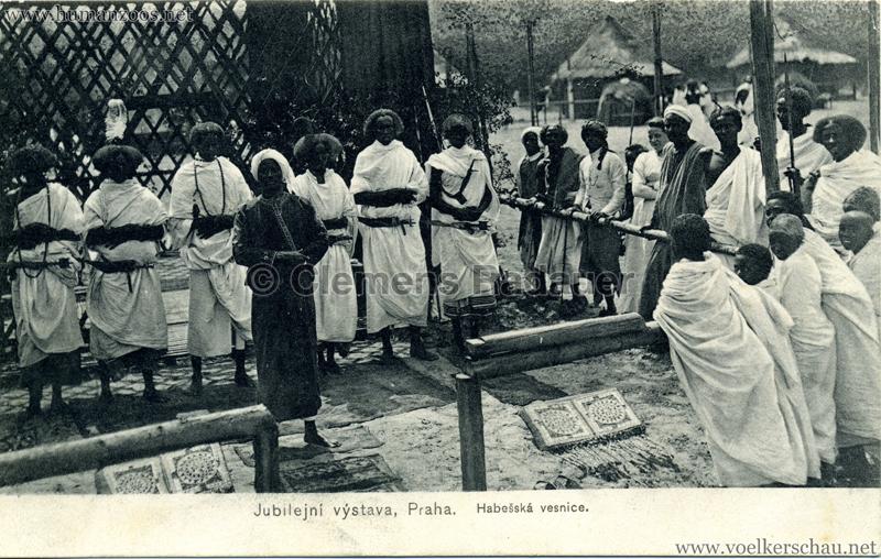 1908 Jubilejni vystava Praha, Abessinska vesnica 7