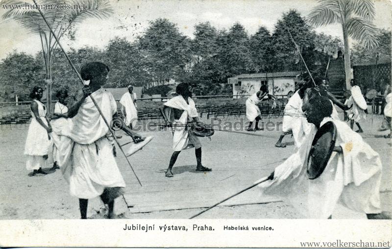 1908 Jubilejni vystava Praha, Abessinska vesnica 8