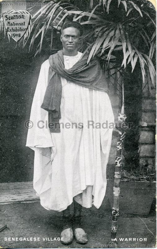 1908 Scottish National Exhibition - Senegalese Village - A Warrior