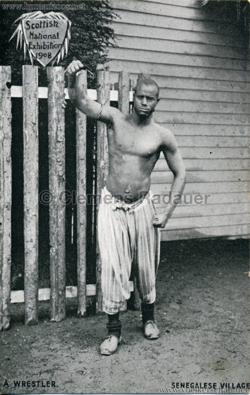 1908 Scottish National Exhibition - Senegalese Village - A Wrestler