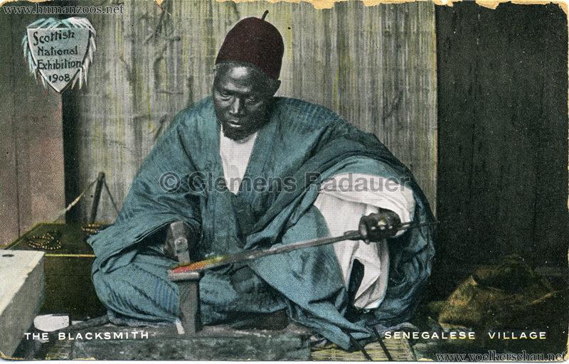 1908 Scottish National Exhibition - Senegalese Village - The Blacksmith