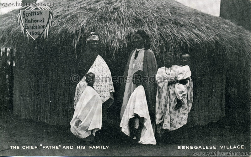 1908 Scottish National Exhibition - Senegalese Village - The Chief