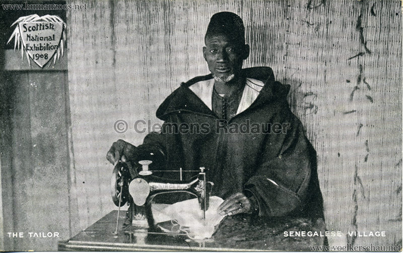 1908 Scottish National Exhibition - Senegalese Village - The Tailor