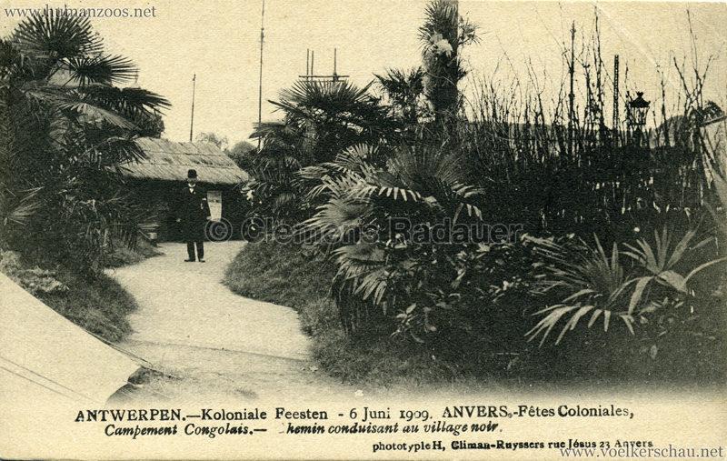 1909 Fêtes Coloniales Anvers - Village Noir