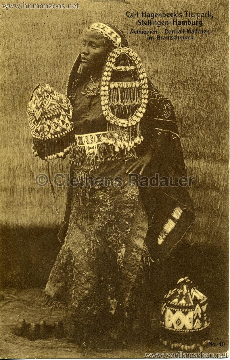 1909 Hagenbeck Aethiopien - 10. Dankali-Mädchen im Brautschmuck