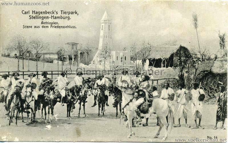1909 Hagenbeck Aethiopien - 14. Scene aus dem Friedensschluss