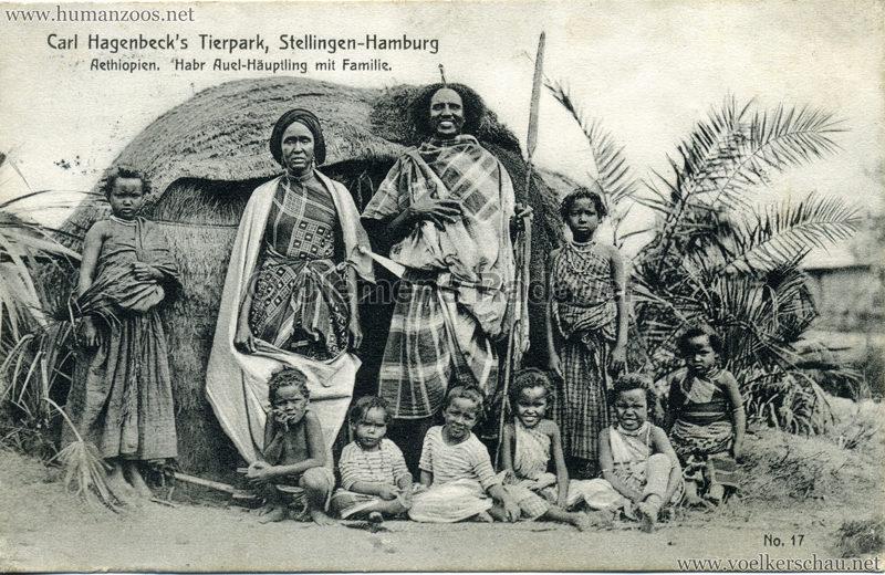 1909 Hagenbeck Aethiopien - 17. Habr Auel-Häuptling mit Familie
