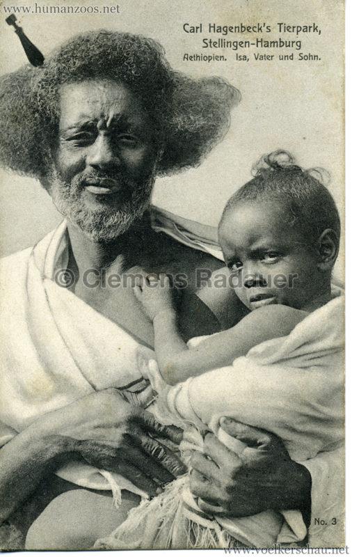 1909 Hagenbeck Aethiopien - 3. Isa, Vater und Sohn