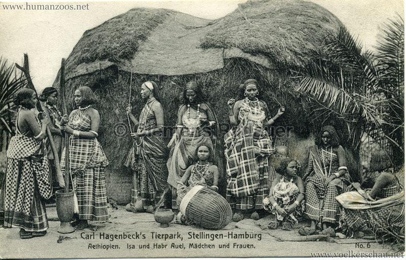 1909 Hagenbeck Aethiopien - 6. Isa und Habr Auel, Mädchen und Frauen
