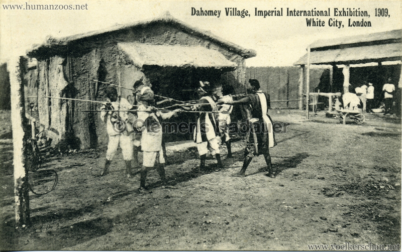 1909 Imperial International Exhibition - Dahomey Village 1, Imperial International Exhibition, 1909, White City, London