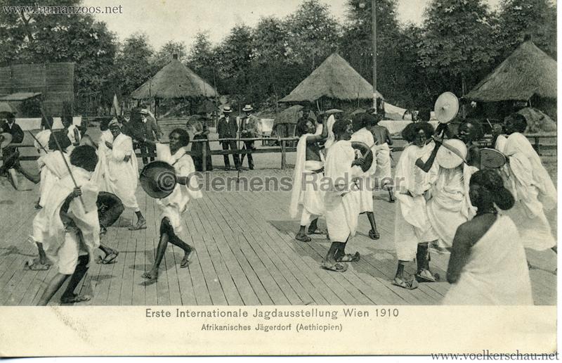 1910 Erste Internationale Jagdausstellung Wien - Afrikanisches Jägerdorf (Äthiopien) 1