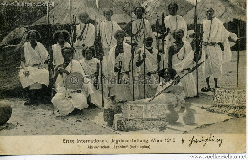 1910 Erste Internationale Jagdausstellung Wien - Afrikanisches Jägerdorf (Äthiopien) 2