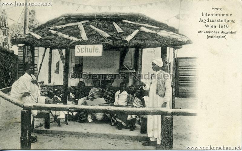 1910 Erste Internationale Jagdausstellung Wien - Afrikanisches Jägerdorf (Äthiopien) 3