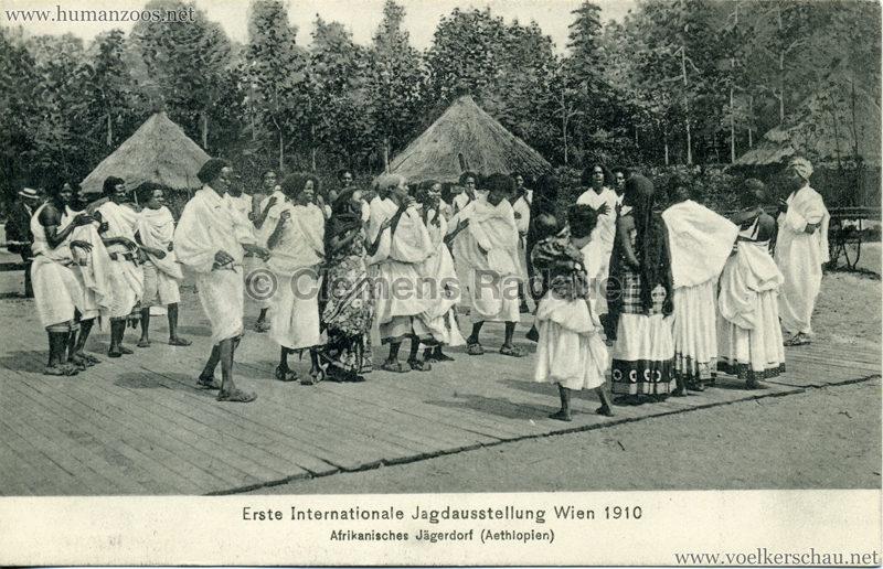 1910 Erste Internationale Jagdausstellung Wien - Afrikanisches Jägerdorf (Äthiopien) 4