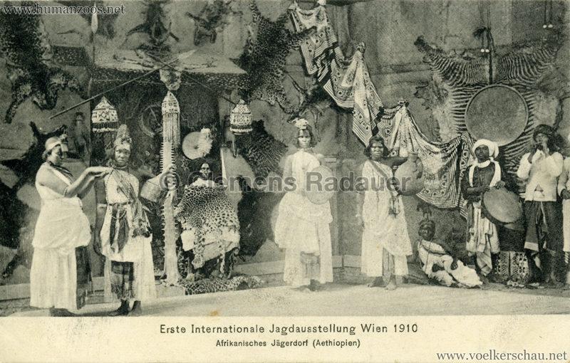 1910 Erste Internationale Jagdausstellung Wien - Afrikanisches Jägerdorf (Äthiopien) 5