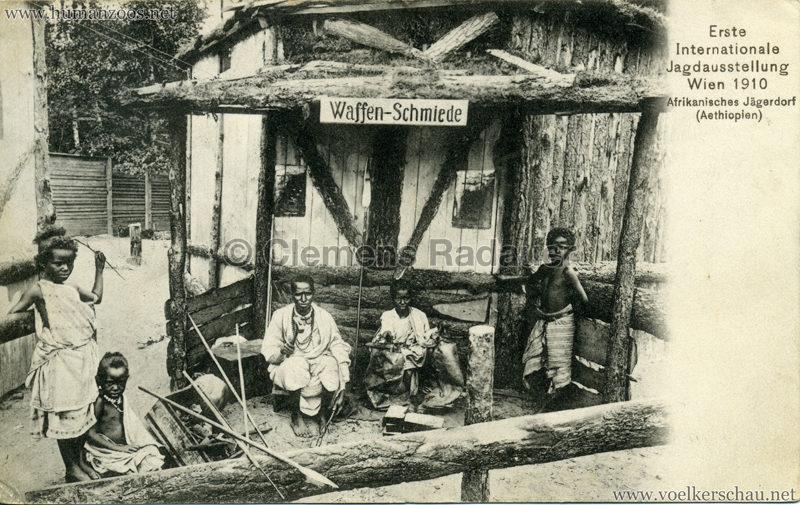 1910 Erste Internationale Jagdausstellung Wien - Afrikanisches Jägerdorf (Äthiopien) 6