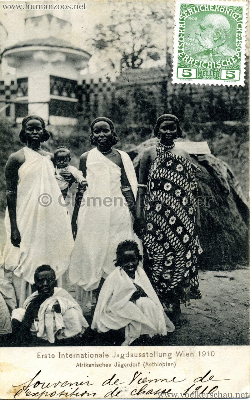 1910 Erste Internationale Jagdausstellung Wien - Afrikanisches Jägerdorf (Äthiopien) 7