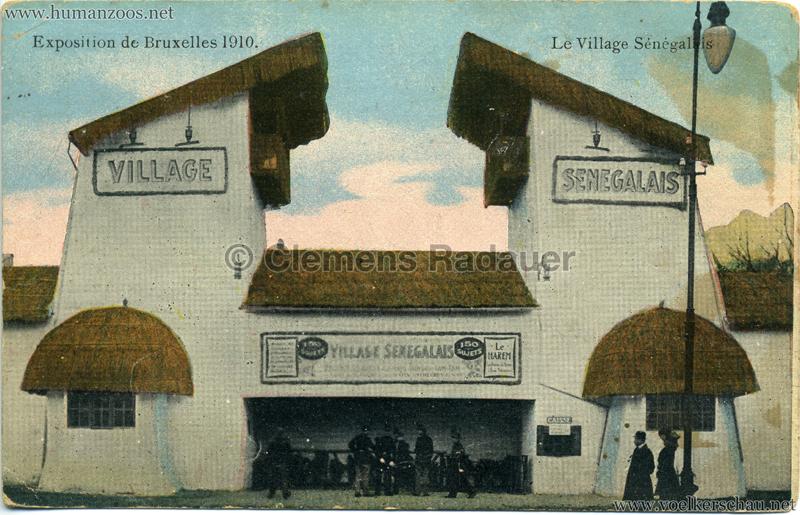1910 Exposition de Bruxelles - Le Village Sénégalais 1