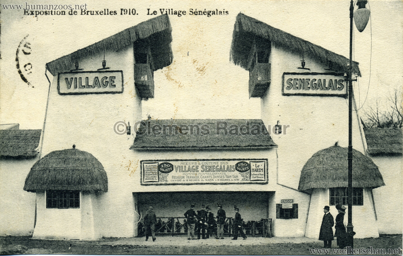 1910 Exposition de Bruxelles - Le Village Sénégalais 4