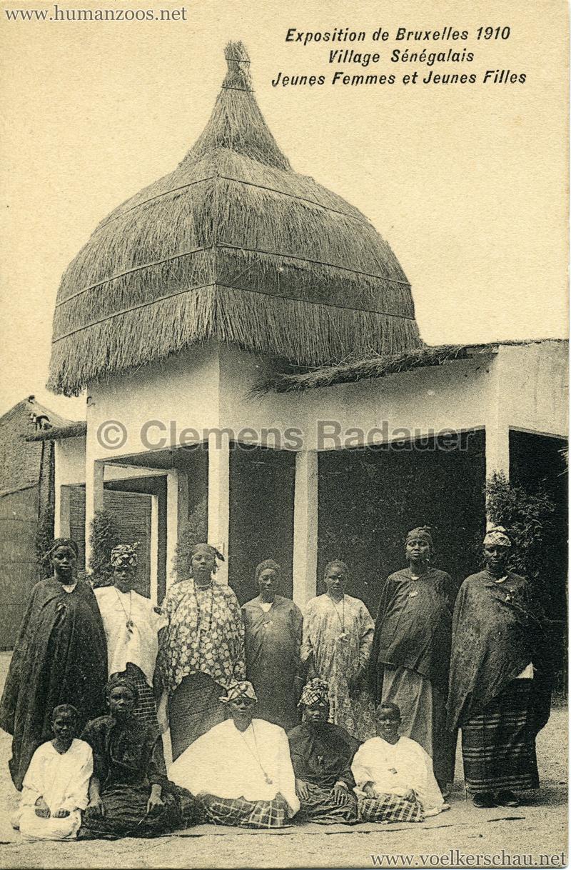 1910 Exposition de Bruxelles - Village Sénégalais - Jeunes Femmes e Jeunes Filles