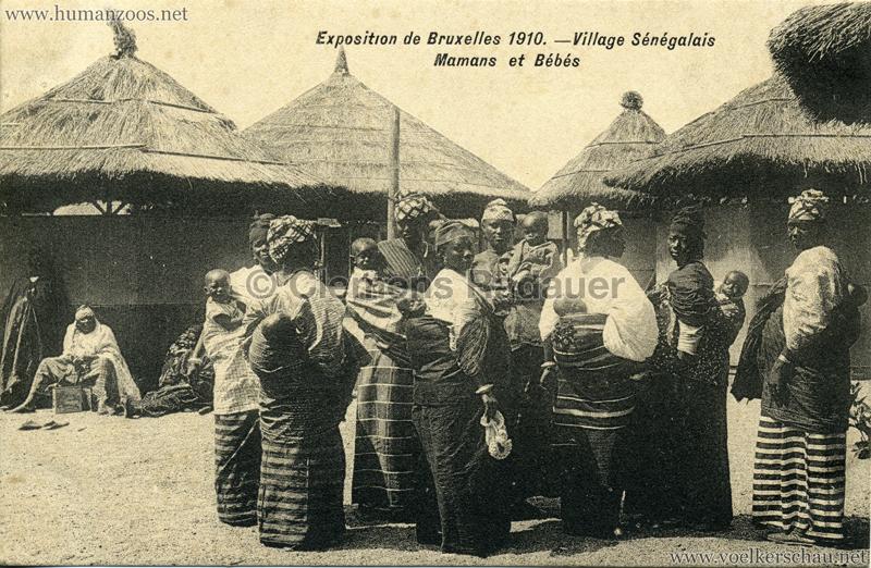1910 Exposition de Bruxelles - Village Sénégalais - Mamans et Bébés