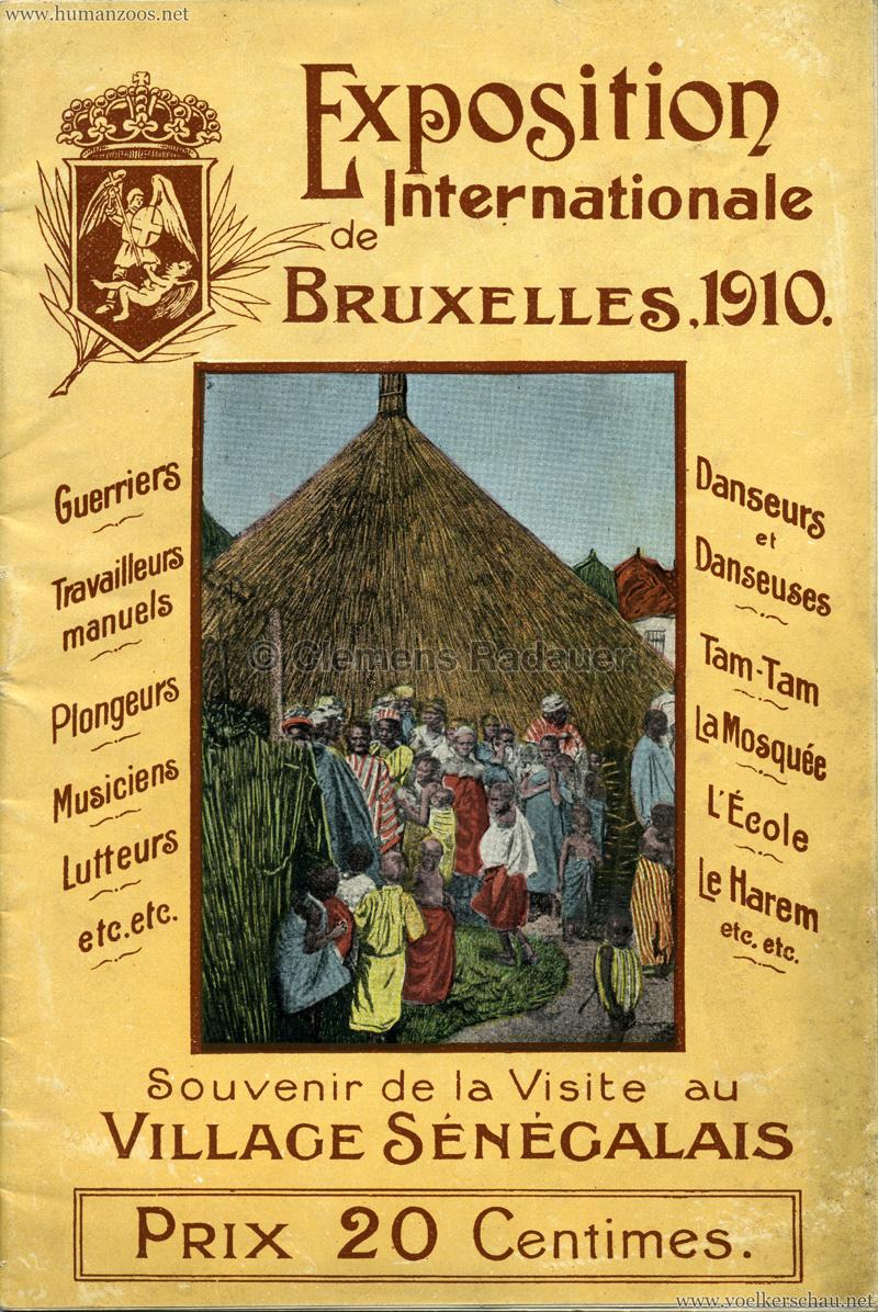1910 Exposition de Bruxelles - Village Sénégalais booklet