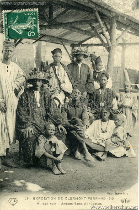 1910 Exposition de Clermont-Ferrand 73. Village Noir - Jeunes Gens Sénégalais