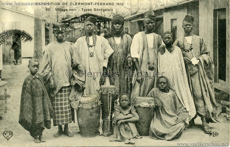 1910 Exposition de Clermont-Ferrand 82. Village Noir - Types Sénégalais