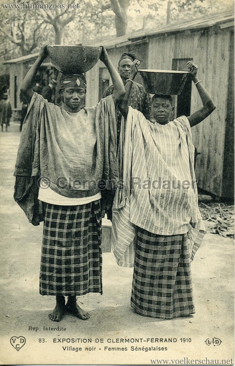 1910 Exposition de Clermont-Ferrand 83. Village Noir - Femmes Sénégalaises