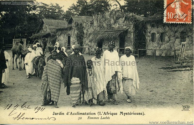 1910 L'Afrique Mystérieuse - Jardin d'Acclimatation - 32. Femmes Laobés