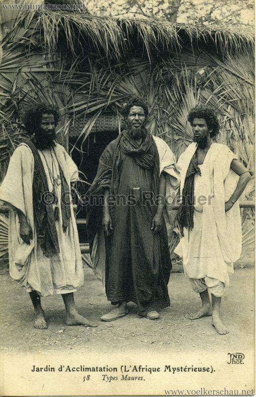 1910 L'Afrique Mystérieuse - Jardin d'Acclimatation - 58. Types Maures