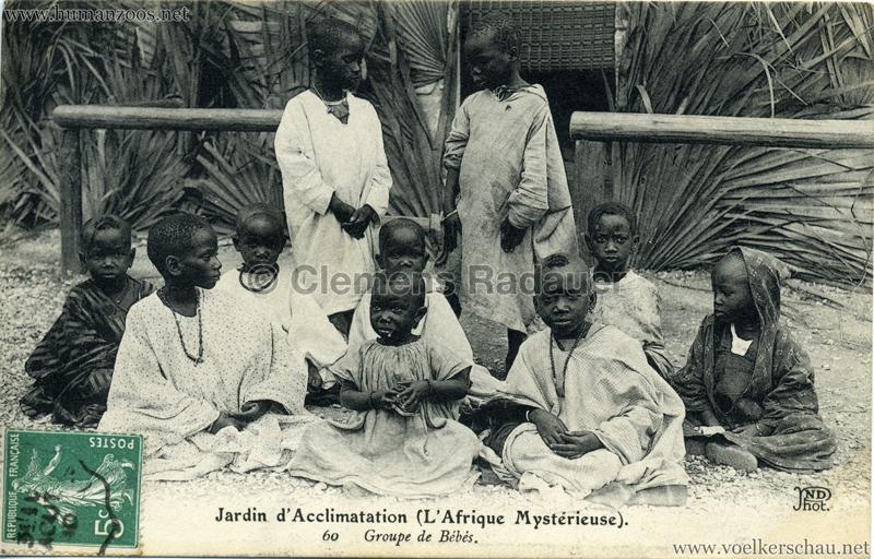 1910 L'Afrique Mystérieuse - Jardin d'Acclimatation - 60. Groupe de Bébés