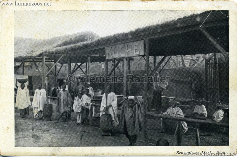 1910 (?) Senegalesen-Dorf. Küche