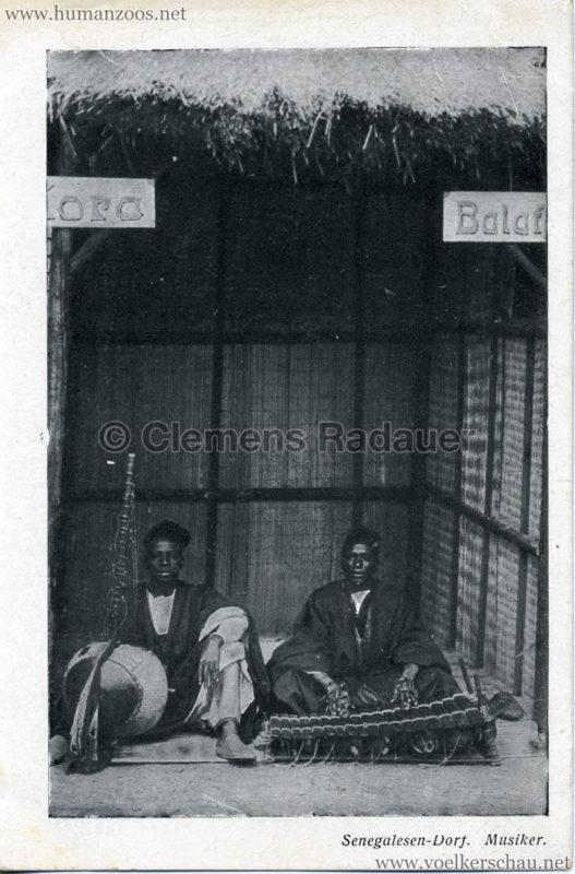 1910 (?) Senegalesen-Dorf. Musiker