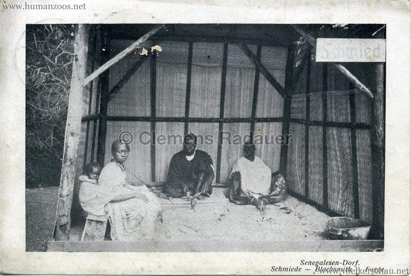 1910 (?) Senegalesen-Dorf. Schmiede - Blacksmith - Forge