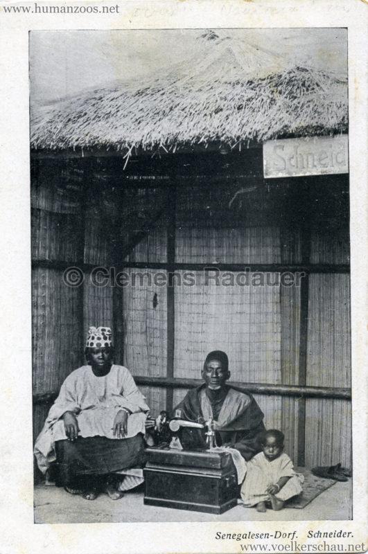 1910 (?) Senegalesen-Dorf. Schneider