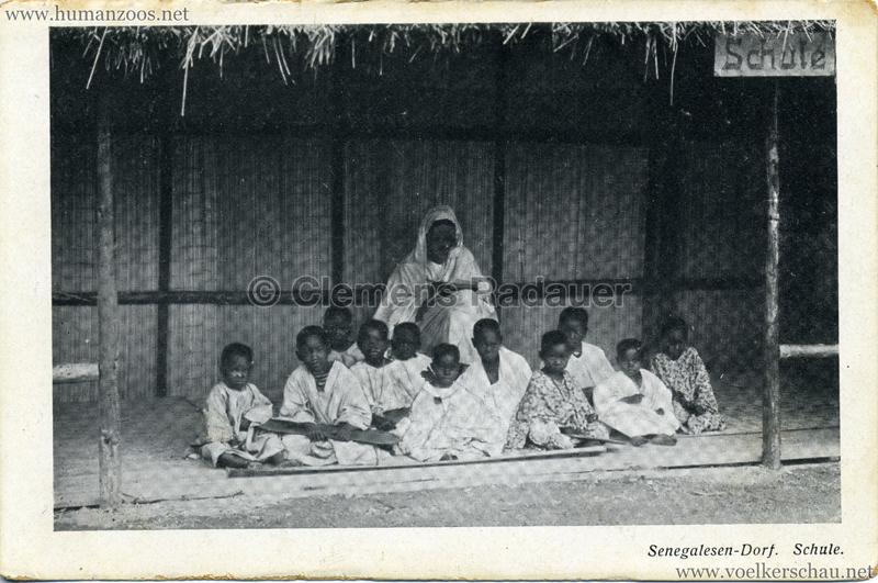 1910 (?) Senegalesen-Dorf. Schule