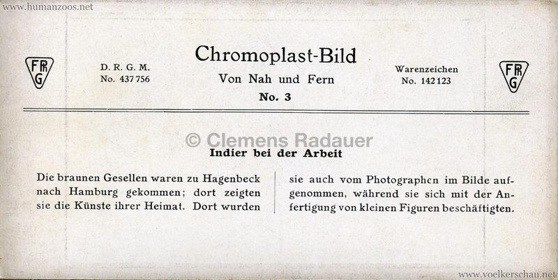 1910/1911/1912 Gustav Hagenbeck's grösste indische Völkerschau der Welt - Chromoplast-Bild (Nah und Fern) Indier bei der Arbeit 1 RS