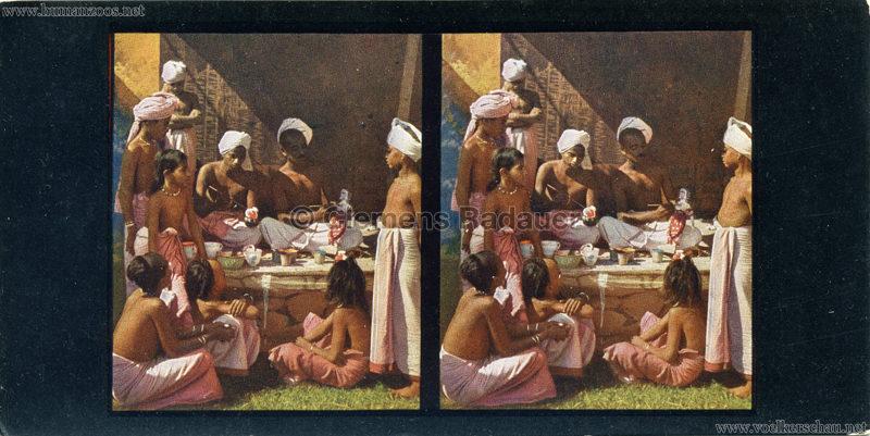 1910/1911/1912 Gustav Hagenbeck's grösste indische Völkerschau der Welt - Chromoplast-Bild (Nah und Fern) Indier bei der Arbeit 1 VS