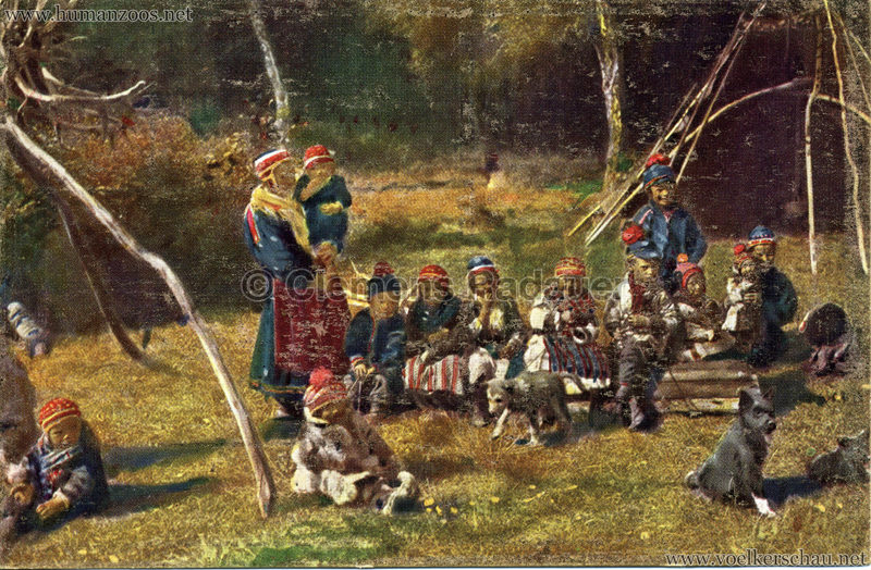 1911 Ausstellung Nordland, Berlin-Halensee - Lappländer (Kindergruppe)