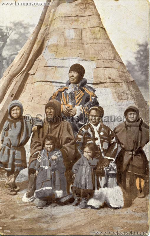 1911 Ausstellung Nordland, Berlin-Halensee - Samojedenfamilie