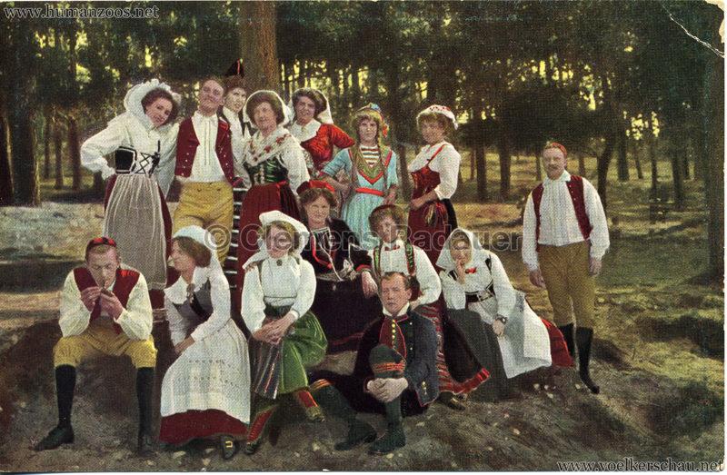1911 Ausstellung Nordland, Berlin-Halensee - Schweden-Gruppe