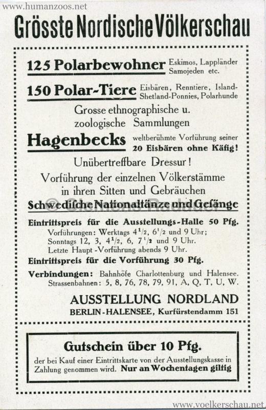 1911 Ausstellung Nordland, Berlin-Halensee RS