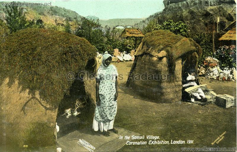 1911 Coronation Exhibition London - 814. In the Somali Village