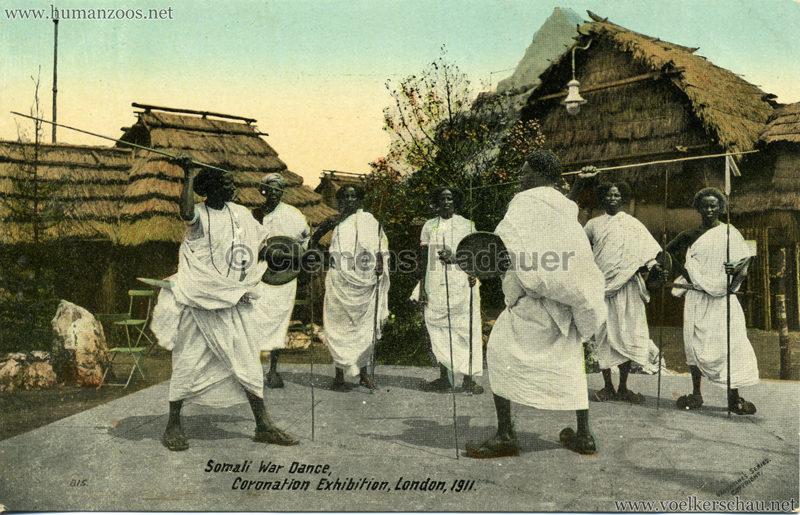 1911 Coronation Exhibition London - 815. Somali War Dance