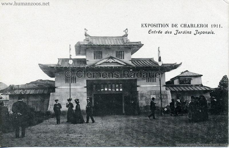 1911 Exposition de Charleroi - Entrée des Jardins Japonais