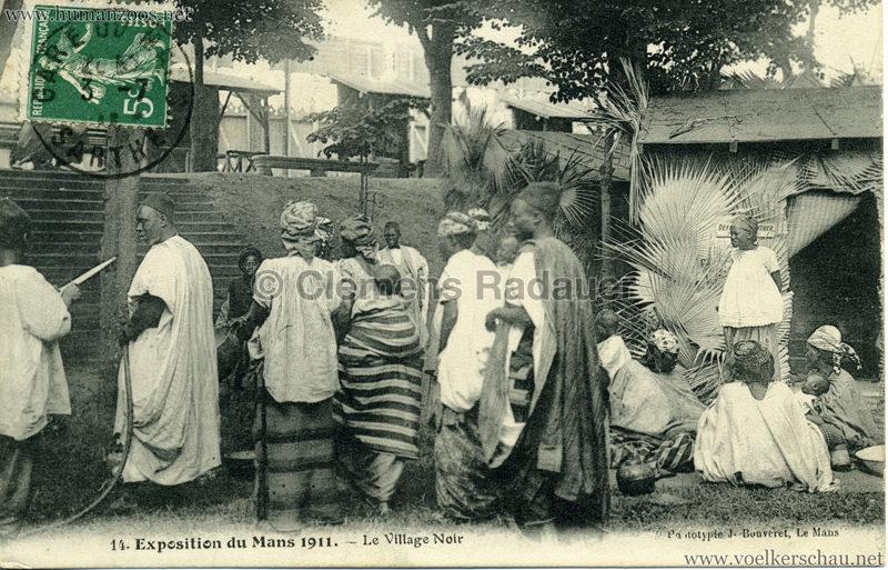 1911 Exposition du Mans -  Le Village Noir 14.