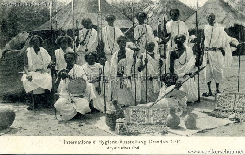 1911 Internationale Hygieneausstellung Dresden - Abyssinisches Dorf