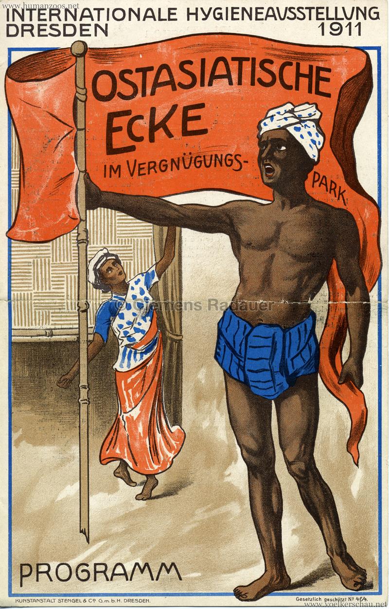 1911 Internationale Hygieneausstellung Dresden - Ostasiatische Ecke